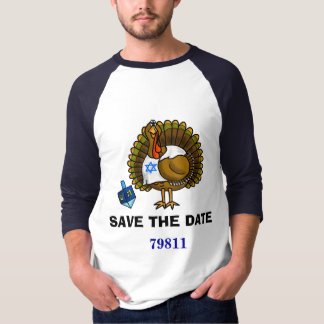 Save The Date 79811 Thanksgivukkah T-Shirt