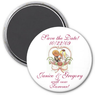 Save the Date! 7.5 Cm Round Magnet