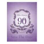 Save the Date 90th Birthday Personalised Postcard