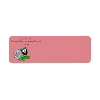 Save the Date address labels customize