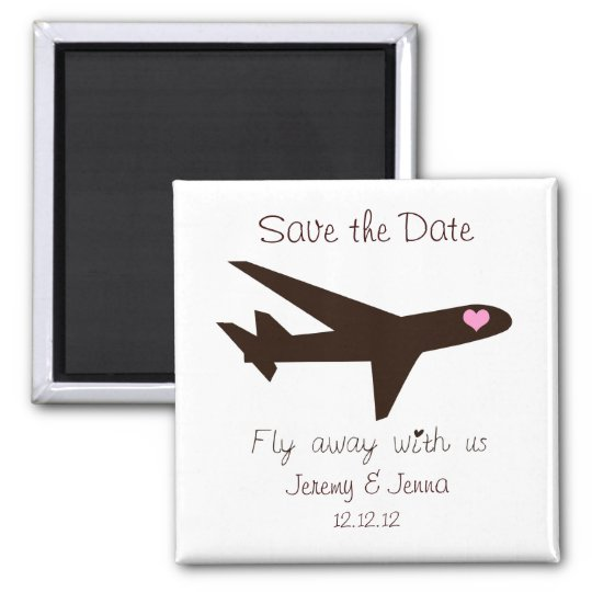 Save the Date: Aeroplane Magnet