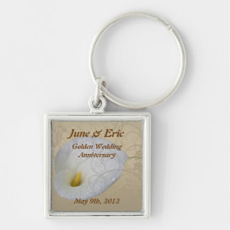 save the date anniversary key chain,  dew drop lil key ring