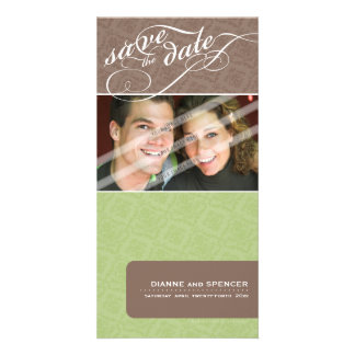 SAVE THE DATE ANNOUNCEMENT :: fancy text 12 Personalized Photo Card