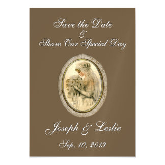 Save the Date Antique Bride Chocolate Magnetic Card