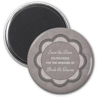 Save the Date Art Nouveau Wedding Magnet