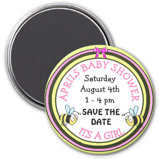 Save the Date Baby Shower Bee Themed Magnet