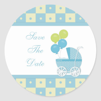 Save The Date Baby Shower Stickers