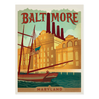 Save the Date - Baltimore, MD Postcard