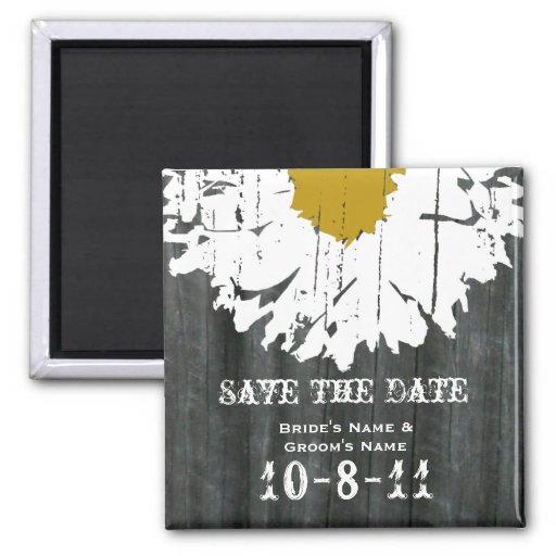 Save The Date - Barnwood & Daisy Fridge Magnets