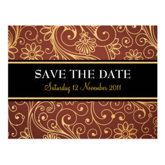 Save The Date Batik Postcard