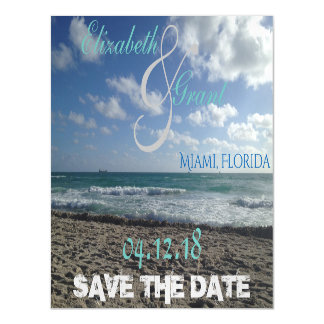Save the Date Beach Magnet Magnetic Invitations