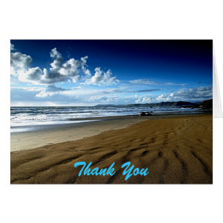 Save The Date Beach Thank You Note Card