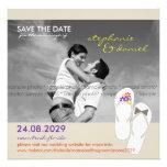 Save The Date Beach Wedding Flip Flops Daisies