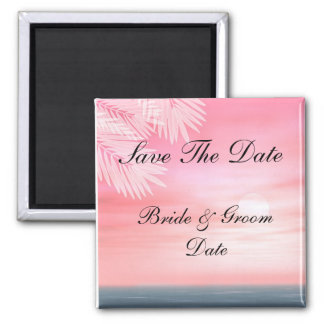 Save the Date Beach Wedding Magnets Fridge Magnets