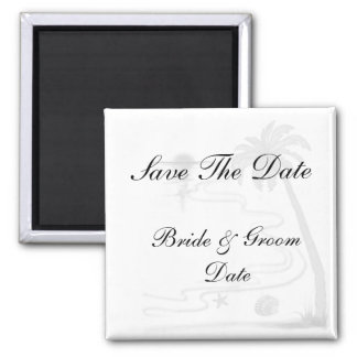 Save the Date Beach Wedding Magnets Magnets