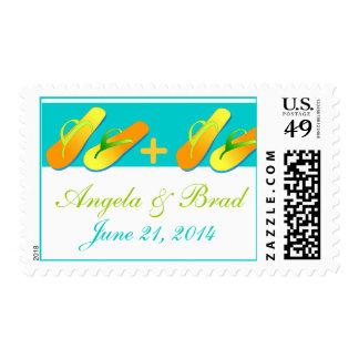 Save the Date Beach Wedding Postage Stamps