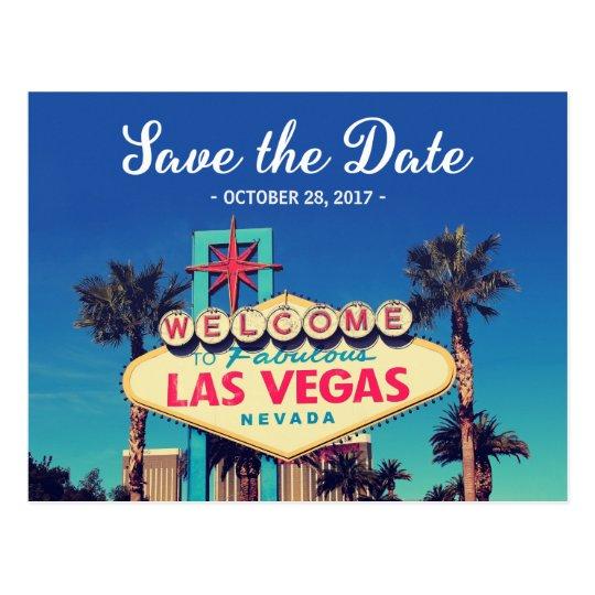 Save the Date - Beautiful Retro Las Vegas