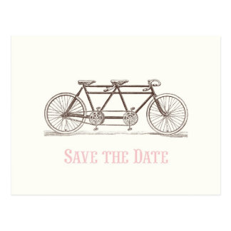 Save the Date Bicycle Built For Two Postcard