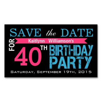 Save the Date Birthday Magnetic Card Reminders Magnetic Business Cards