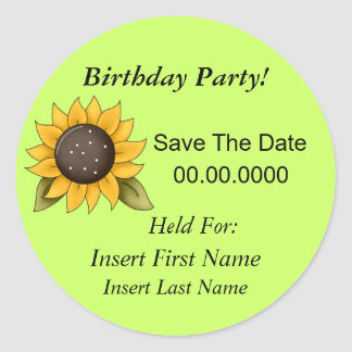 Save The Date Birthday Party Stickers