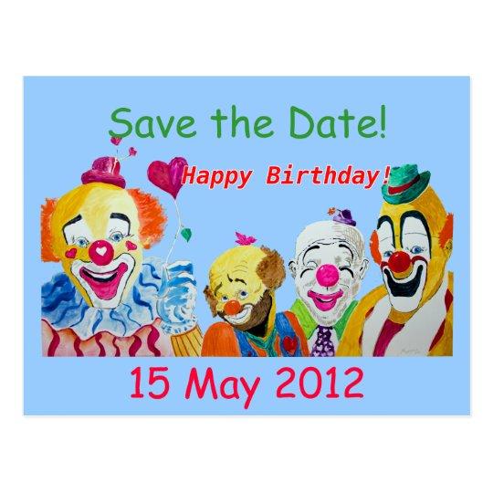 Save the Date Birthday Postcard