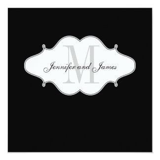 Save The Date Black and White Wedding Invitation