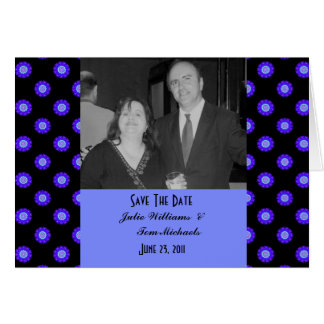 Save the Date blue black Greeting Card
