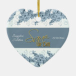 """save the date"" blue white orchid"
