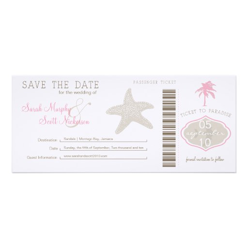 Save the Date Boarding Pass Announcements
