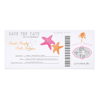 Save the Date Boarding Pass Invitation