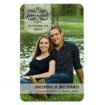 Save the Date - Borderless Custom Photo Magnets