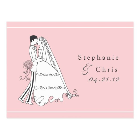 Save the Date Bride and Groom 01 Postcard