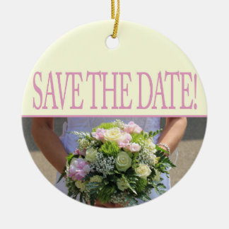 Save the Date Bride & Bouquet Christmas Ornament