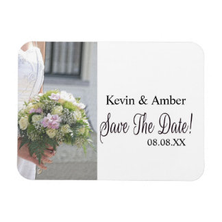 Save the Date Bride & Bouquet Magnet