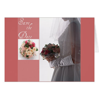 Save the date-Bride Greeting Card
