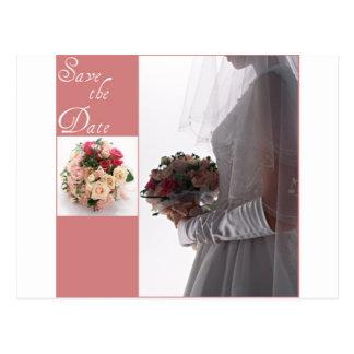 Save the date-Bride Postcard
