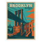 Save the Date   Brooklyn, NY Postcard
