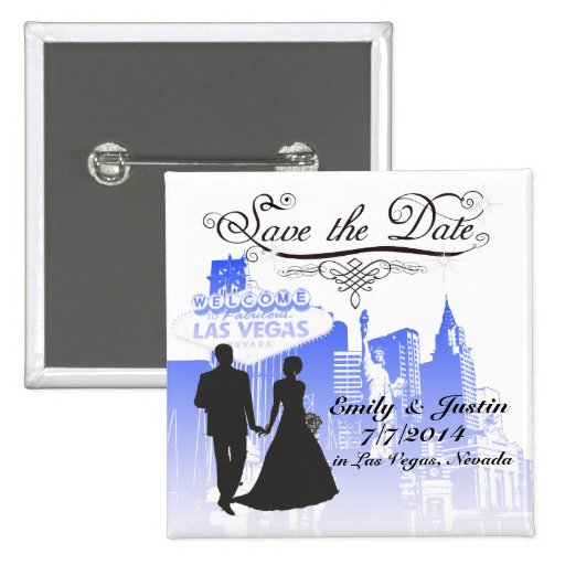 SAVE THE DATE BUTTON WITH VIEW OF LAS VEGAS