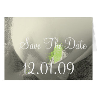 Save the Date Cala Lily - Warm Grey Card