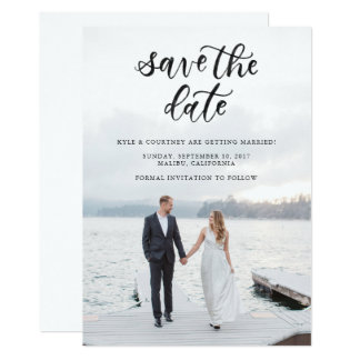 Save the Date Calligraphy Card
