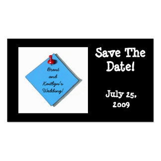 SAVE THE DATE CARD BLACK PACK OF STANDARD BUSINESS CARDS
