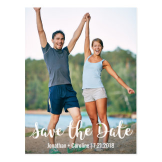 Save the Date Card | Fun, Modern, Casual, Photo Postcard