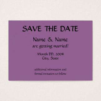 SAVE THE DATE card - initials on back