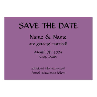 SAVE THE DATE card - initials on back Pack Of Chubby Business Cards