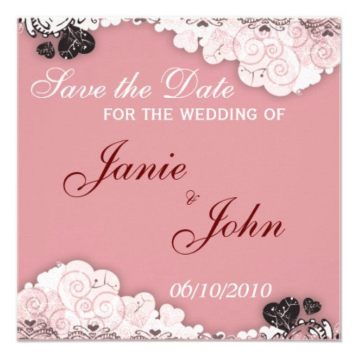 Save the Date Card Custom Announcements