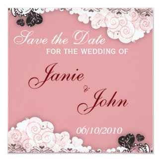 "Save the Date Card 5.25"" Square Invitation Card"