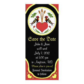 Save the Date Card - Long Happy Relationship Hex Announcement