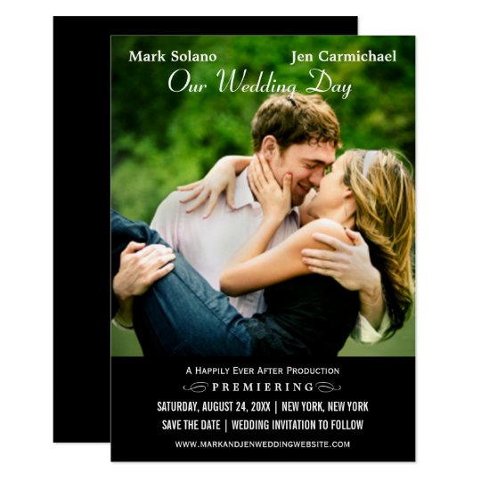 Save the Date Card   Movie Poster Design