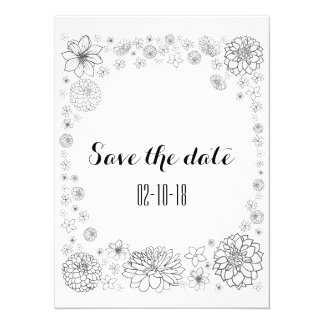 Save the date card, rustic wedding, boho wedding card