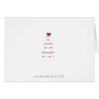 Save the Date Card -- wedding cake design